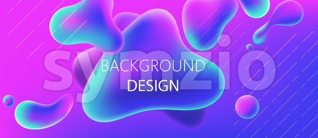 Abstract background design of water blobs. Realistic 3D mockup product placement. Vector Stock Vector