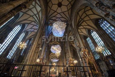 VIENNA - AUSTRIA, MAY 14, 2016: Stephansdom cathedral interior Stock Photo