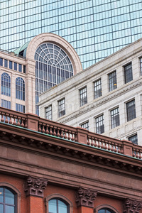 Architecture buildings in city of Boston downtown, United States of america Stock Photo