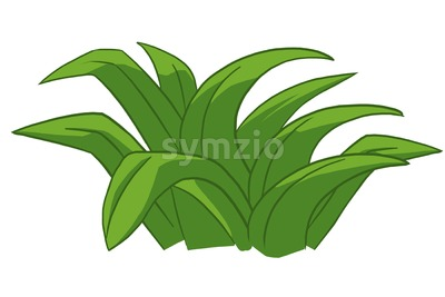 Green grass isolated on white. Ecological problem solving concept. Digital background raster illustration. Stock Photo