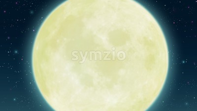 Starry night sky with fool moon. Digital background raster illustration. Stock Photo