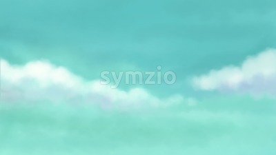 Cloudy sky. Eye relaxation blurred backdrop. Digital background raster illustration. Stock Photo