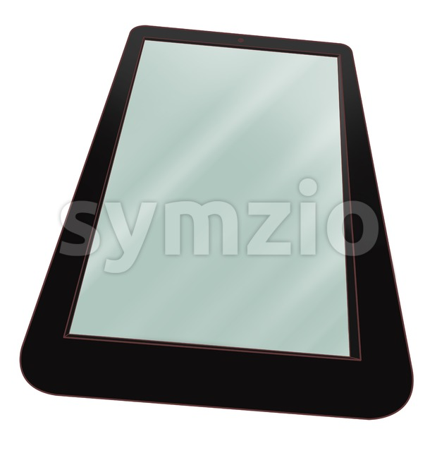 Touchpad icon. Blank screen of tablet computer. Digital tablet pc, flat design concept. Stock Photo