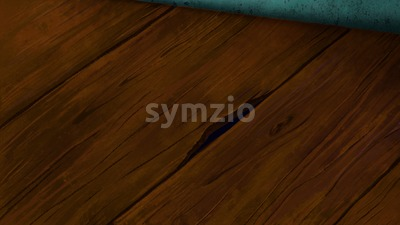 Wooden laminated floor with cracks and holes. Digital background raster illustration. Stock Photo