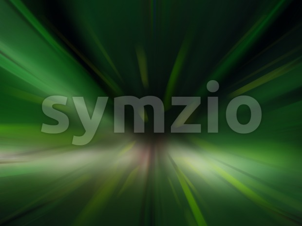 Abstract design of fast speed motion in urban highway tunnel road. Green colorful digital background raster illustration. Stock Photo