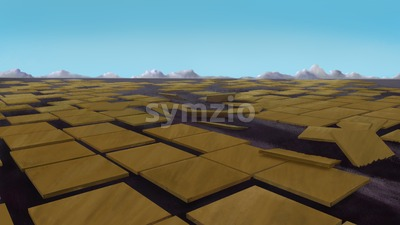 Urbanization concept. Brown tiles on the ground. Digital background raster illustration. Stock Photo