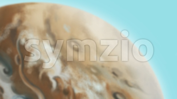 Blurred planet backdrop. Digital background raster illustration. Stock Photo