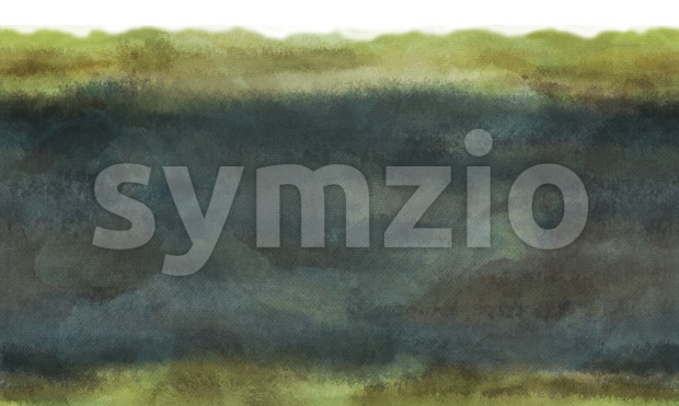 Green Watercolor textured digital background raster illustration. Stock Photo