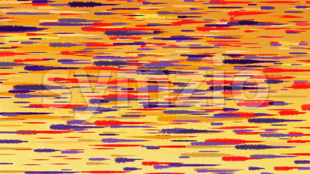 Autumn abstract watercolor background. Motion blur red blue yellow transition lines.  Digital background raster illustration. Stock Photo