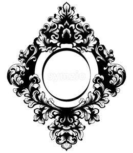 Vintage Baroque Mirror frame.Vector. French Luxury rich intricate ornaments. Victorian Royal Style decor Stock Vector