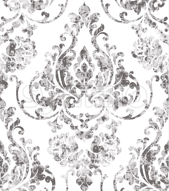 Vintage rococo texture pattern Vector. Floral ornament decoration old effect. Victorian engraved retro design. Luxury fabric decor. Beige color