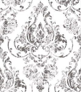 Vintage rococo texture pattern Vector. Floral ornament decoration old effect. Victorian engraved retro design. Luxury fabric decor. Beige color Stock Vector