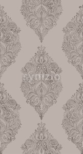 Rococo pattern texture Vector. Floral ornament decoration. Royal ements. Victorian engraved retro design. Vintage fabric decor. pastel color Stock Vector