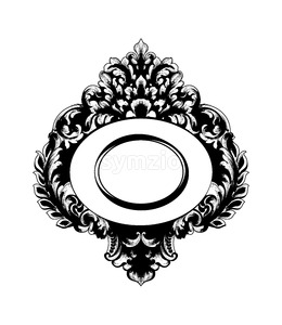 Vintage Baroque Mirror frame Vector. French Luxury rich intricate ornaments. Victorian Royal Style decor Stock Vector