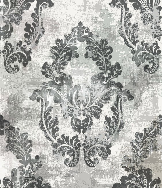 Rococo Baroque texture pattern Vector. Floral ornament decoration. Victorian engraved retro design. Vintage fabric decors. Luxury fabric Stock Vector