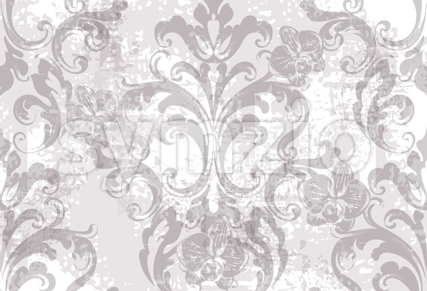 Floral texture pattern Vector. Floral ornament decoration. Victorian engraved retro design. Vintage fabric decors. Luxury fabric Stock Vector