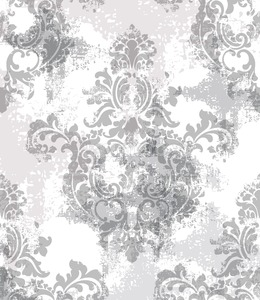 Baroque texture pattern Vector. Floral ornament decoration. Victorian engraved retro design. Vintage fabric decors. Luxury fabric Stock Photo